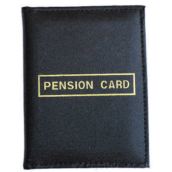 Pension Card Cover Leather Pension Card Wallet
