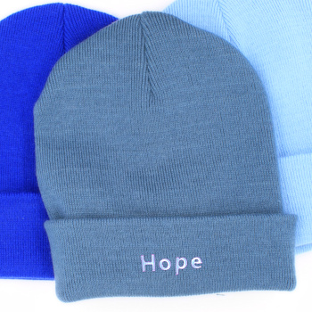 Personalised Beanie Hat Airforce Blue Cuffed Hat