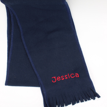 Childrens Navy Scarf Kids Personalised Scarf