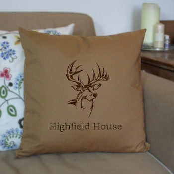Personalised Cushions Stag Embroidered Cushion