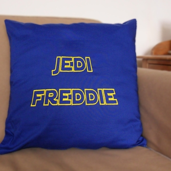Personalised Cushions Star Wars Jedi Style Embroidered Cushion