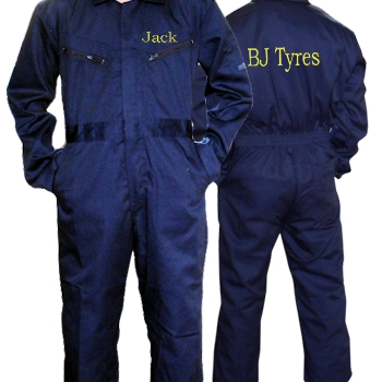 Personalised Childrens Overalls Coveralls Boilersuit Navy 12-13 yrs