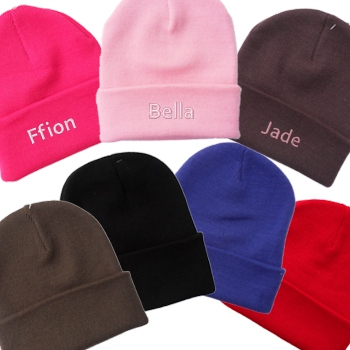 Personalised Beanie Hat Embroidered Cuffed Beanie Hat