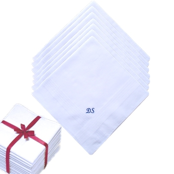 Mens Personalised Handkerchiefs - 7 Daily Hankies Set