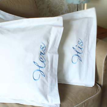 Personalised Pillowcases Oxford Egyptian Cotton White Pillow Set