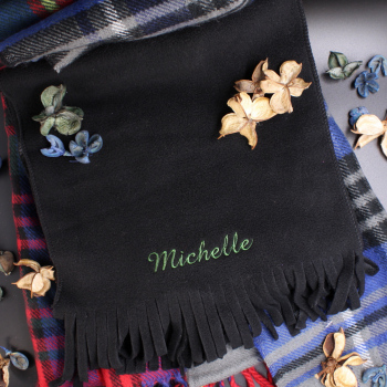 Black Fleece Winter Scarf