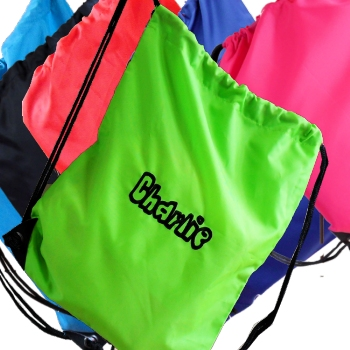 Personalised Gym Bag<br>Green School PE Sports Drawstring Bag