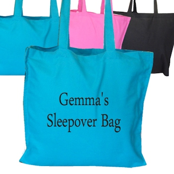 Personalised Bags Cotton Tote Bag - Teal Blue