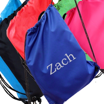 Personalised Gym Bag Royal Blue School PE Sports Drawstring