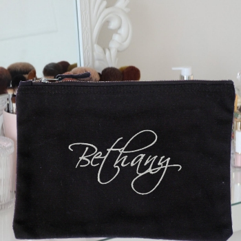 Personalised Wash Bag Embroidered Signature Case