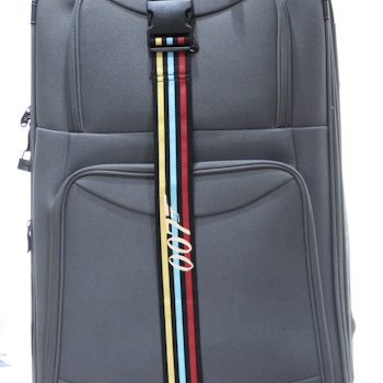 Luggage Strap Personalised Embroidered Multi Stripe Strap
