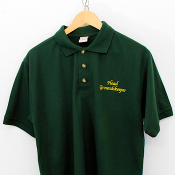 Embroidered Polo Shirt Personalised Shirt Bottle Green