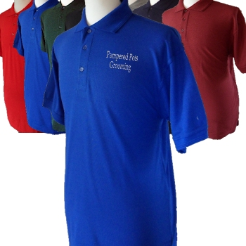 Mens Polo Personalised Shirt Royal Blue