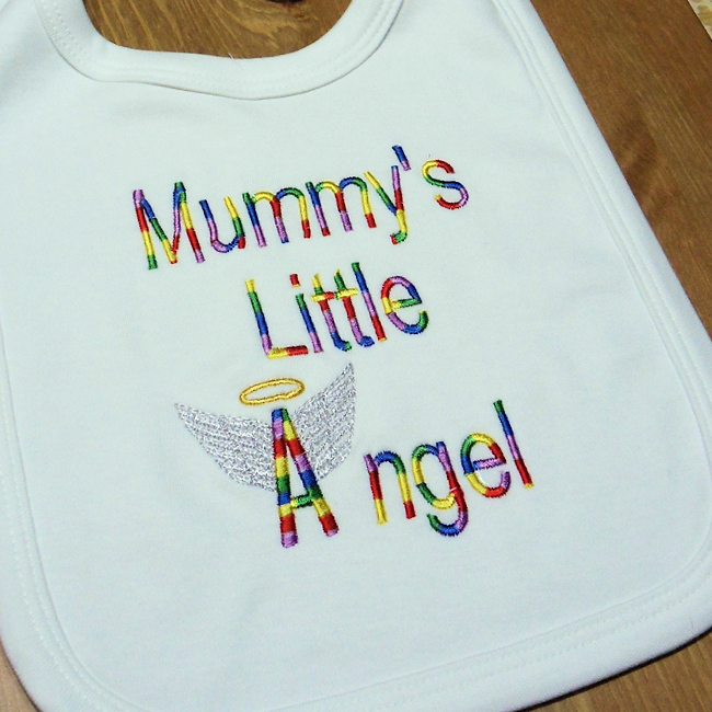 Angel Baby Gifts Uk : Personalised bib little angel baby