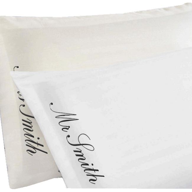 personalised pillowcases oxford edge egyptian cotton pillow case set