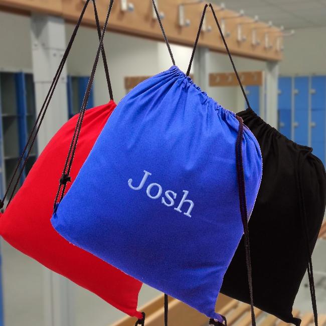 Click To Enlarge Royal Blue School Swim Or Gym Bag Personalised Image