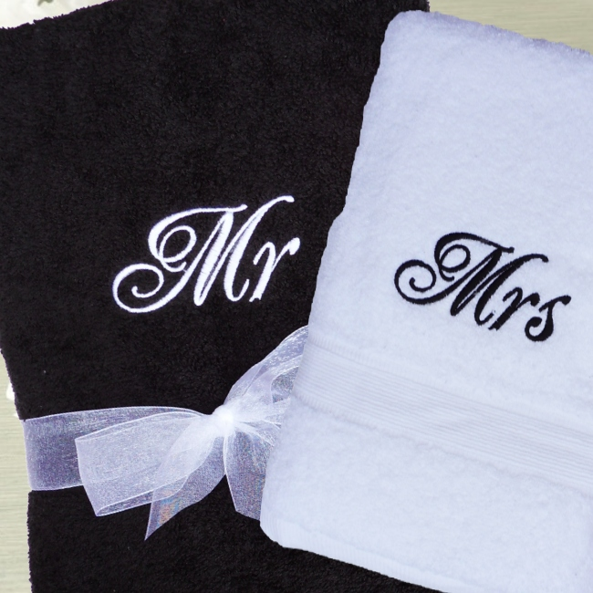 Bath Towel Sets Black And White: Personalised Towel Set Black And White Bath Towels