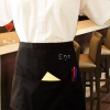 Personalised Bar Apron 3 Pocket Black Waist Apron