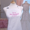 Bridal Apron Personalised Wedding Apron