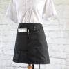 Personalised Bar Apron Black Waitress 1 Pocket
