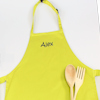 Childs Personalised Apron Lime Green Kids Apron