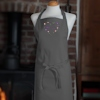 Personalised Apron Floral Heart Embroidered