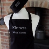 Black Embroidered Cooks Apron