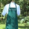 Embroidered Dark Green Apron