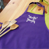 Personalised Apron Purple Chefs Apron