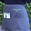 Personalised Bar Apron Grey Waist Apron