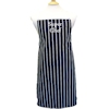 Butchers Aprons Navy Stripe Personalised Apron