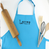 Childrens Apron Personalised Teal Blue Kids Apron