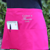 Personalised Bar Apron Pink Waist Apron