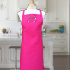 Ladies Pink Apron Embroidered Name