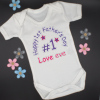 Personalised 1st Fathers Day Babygrow Baby Vest Bodysuit Gift