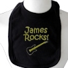 Black Cotton Baby Bib with Embroidery