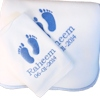 Baby Blanket Gift Set Baby Feet Bib and Blanket