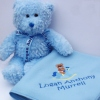 Baby Boy Birth Gift Personalised Teddy and Blanket