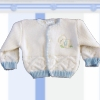 Baby Cardigan Sweater Monogrammed Blue White Cardi