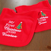 Christmas Baby Bib My First Christmas Personalised Bib