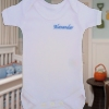 Personalised Babygrow Short Sleeve Vest Bodysuit
