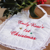 Christmas Baby Bib 1st Christmas Personalised Lace Bib