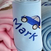 Baby Blankets Personalised Cotton Baby Blanket - Blue
