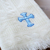 Cream Shawl Personalised Blue Cross