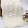 Personalised Baptism Shawl Cream Cross Baby Shawl