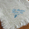 Boys Christening Shawl Embroidered Cream Baby Blanket
