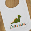 Personalised Message Embroidered Baby Bib