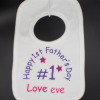 1st Fathers Day Bib Personalised Baby Bibs boys or girls