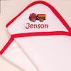 Personalised Baby Towel Fire Engine Hooded Towel