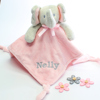 Elephant Baby Comforter Baby Girl Taggy Blankie